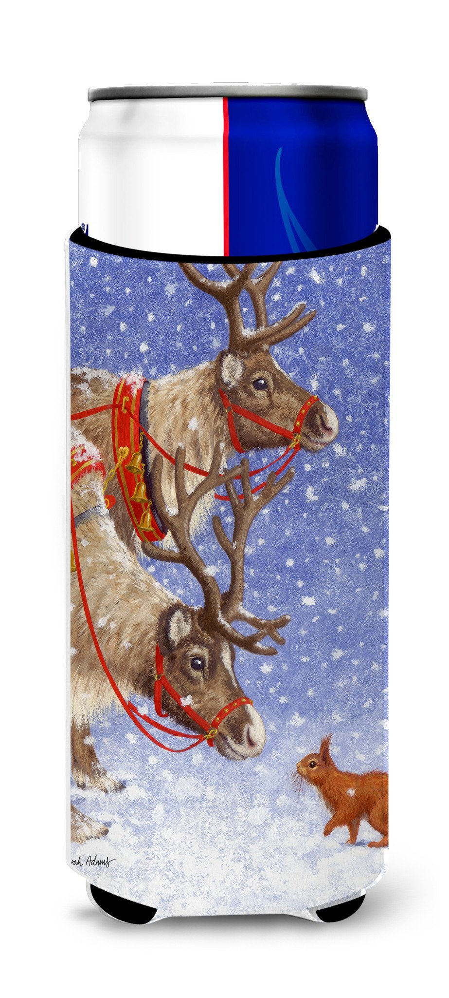 Buy this Reindeers & Squirrel Ultra Beverage Insulators for slim cans ASA2016MUK