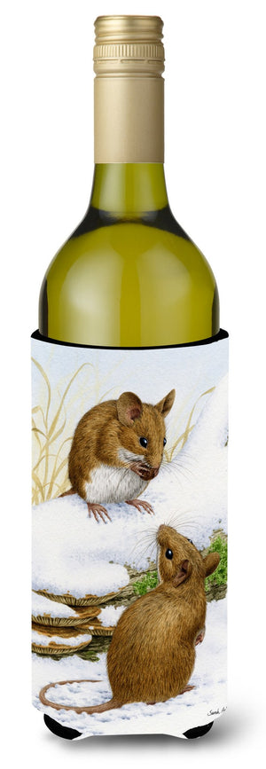 Buy this Wood Mice Wood Mouse Wine Bottle Beverage Insulator Hugger ASA2027LITERK