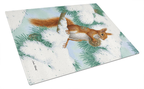 Buy this Red Squirrel with Pine Cone Glass Cutting Board Large ASA2033LCB