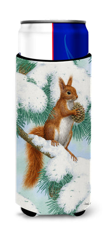 Buy this Red Squirrel with Pine Cone Ultra Beverage Insulators for slim cans ASA2033MUK