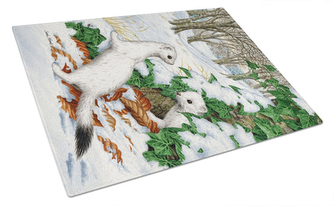Buy this Stoats Short-tailed Weasel Glass Cutting Board Large ASA2042LCB