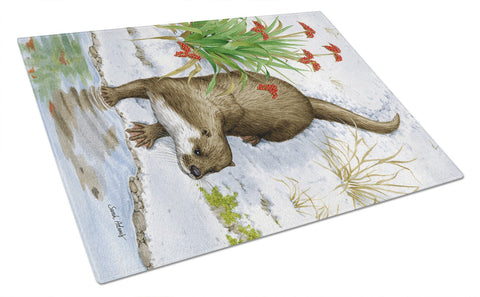 Buy this Otter by the Water Glass Cutting Board Large ASA2048LCB