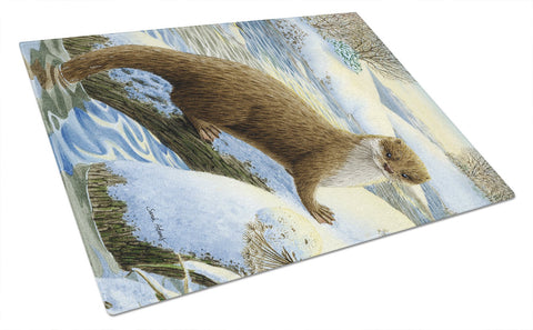 Buy this Otter on the bank Glass Cutting Board Large ASA2050LCB