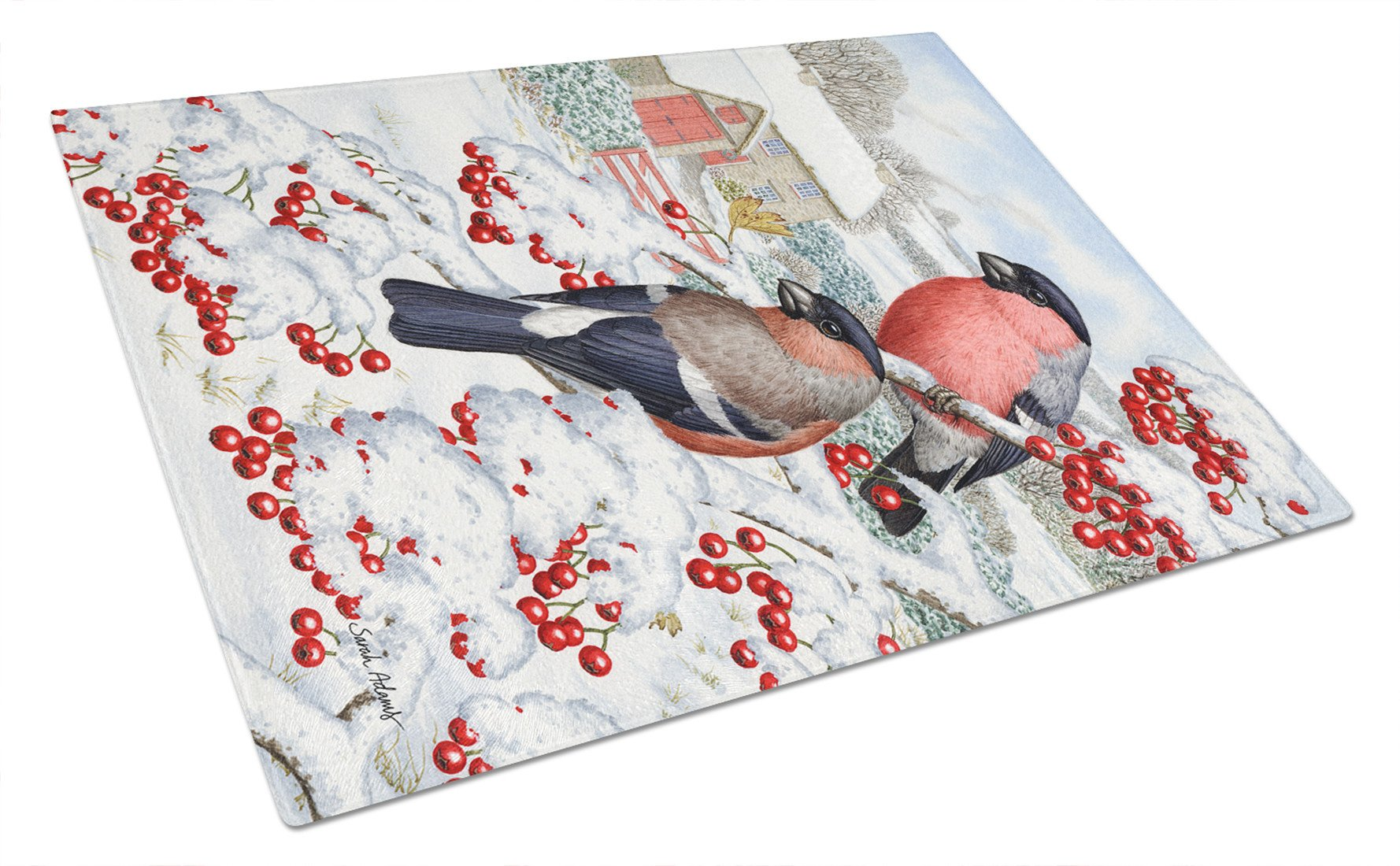 Buy this Eurasian Bullfinch Glass Cutting Board Large ASA2054LCB