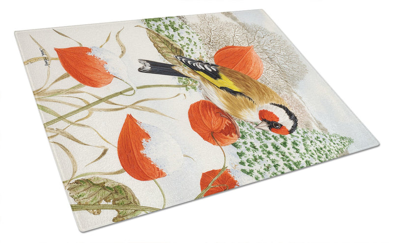 European Goldfinch Glass Cutting Board Large ASA2055LCB by Caroline's Treasures