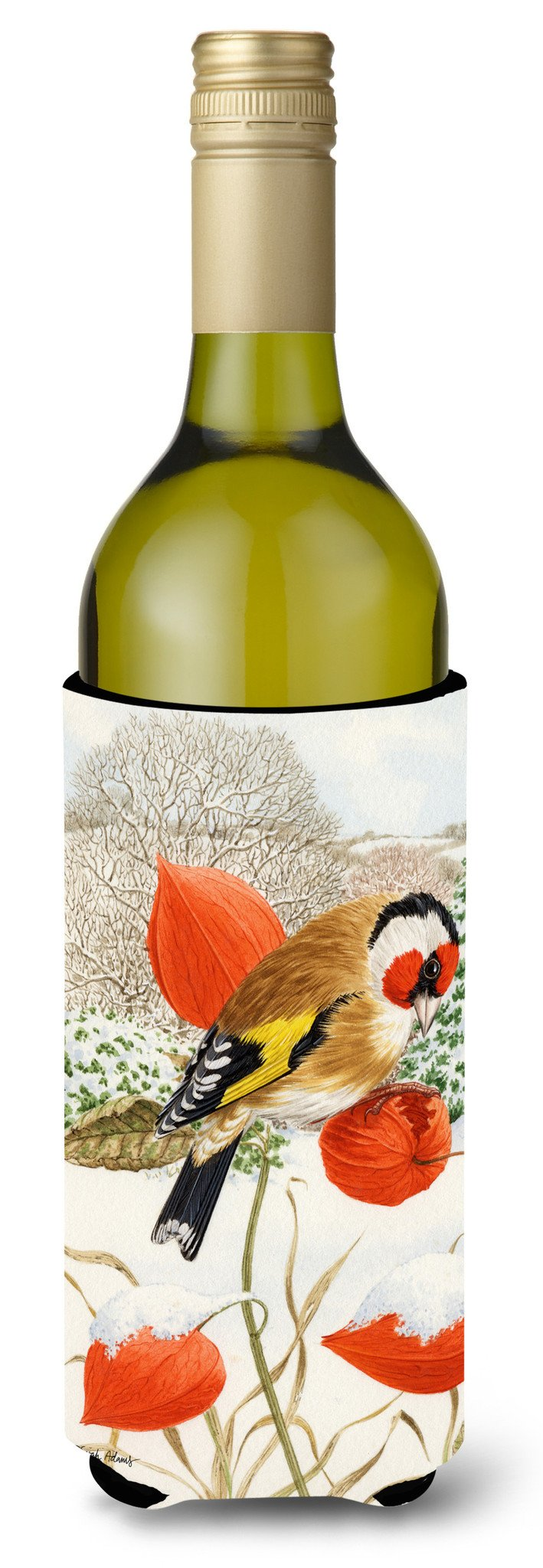 Buy this European Goldfinch Wine Bottle Beverage Insulator Hugger ASA2055LITERK