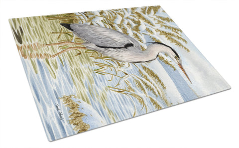 Buy this Blue Heron in the water Glass Cutting Board Large ASA2058LCB