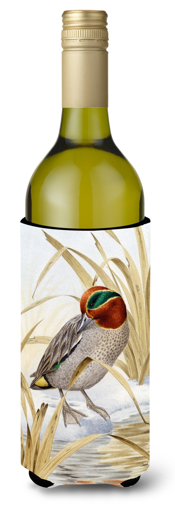 Buy this Eurasian Teal Duck Wine Bottle Beverage Insulator Hugger ASA2059LITERK