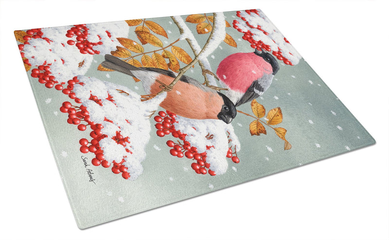 Buy this Eurasian Bullfinches Glass Cutting Board Large ASA2063LCB