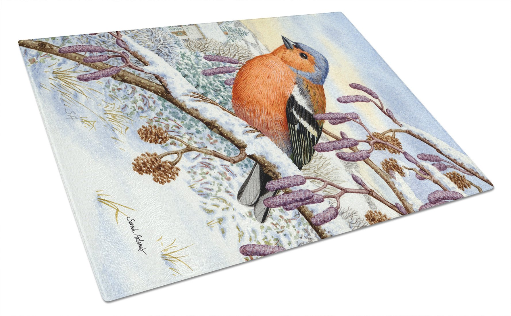 Buy this Eurasian Bullfinch Glass Cutting Board Large ASA2066LCB