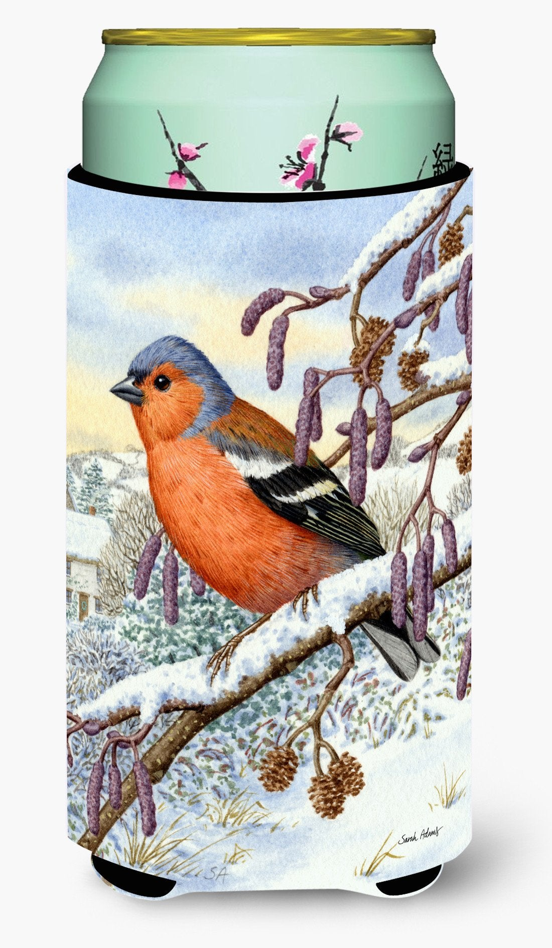 Buy this Eurasian Bullfinch Tall Boy Beverage Insulator Hugger ASA2066TBC