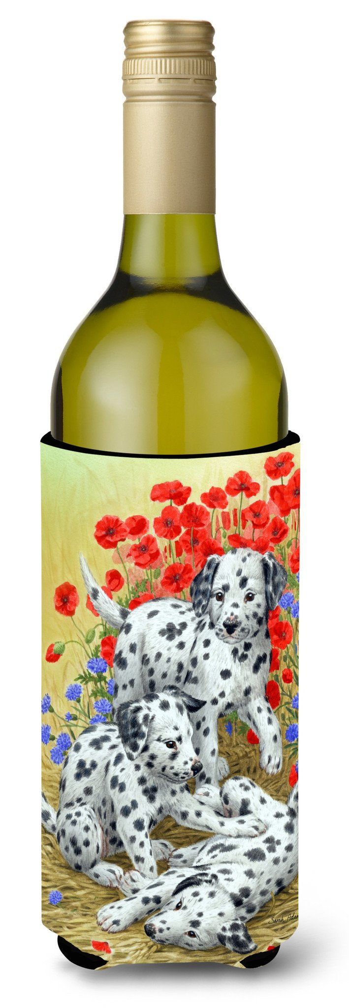 Dalmatian Pups Wine Bottle Beverage Insulator Hugger ASA2071LITERK by Caroline's Treasures