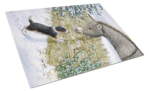Buy this Pup & Donkey Glass Cutting Board Large ASA2073LCB