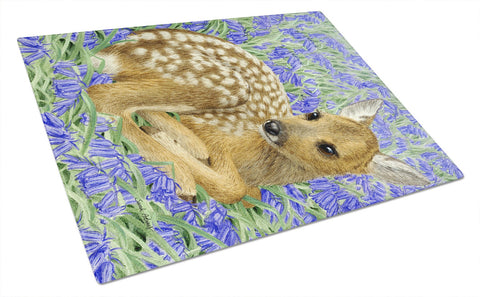 Buy this Deer Fawn Glass Cutting Board Large ASA2082LCB
