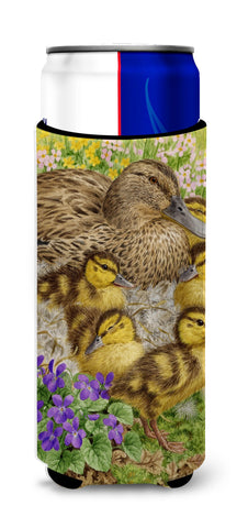 Buy this Female Mallard Duck and Ducklings Ultra Beverage Insulators for slim cans ASA2084MUK