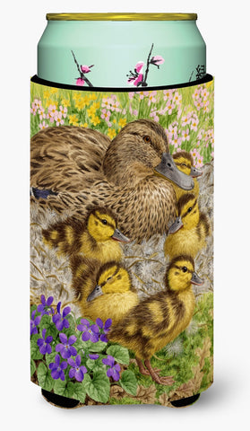 Buy this Female Mallard Duck and Ducklings Tall Boy Beverage Insulator Hugger ASA2084TBC