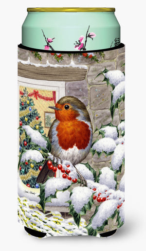 Buy this European Robin at the Window Tall Boy Beverage Insulator Hugger ASA2089TBC