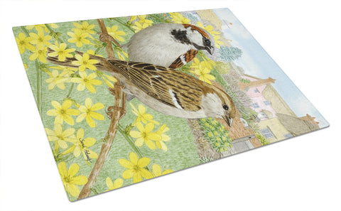 Buy this House Sparrows Glass Cutting Board Large ASA2091LCB