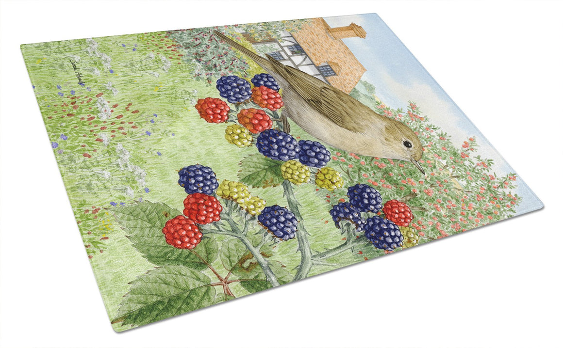 Buy this Garden Warbler Glass Cutting Board Large ASA2096LCB