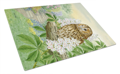 Buy this Tawny Owl Glass Cutting Board Large ASA2101LCB