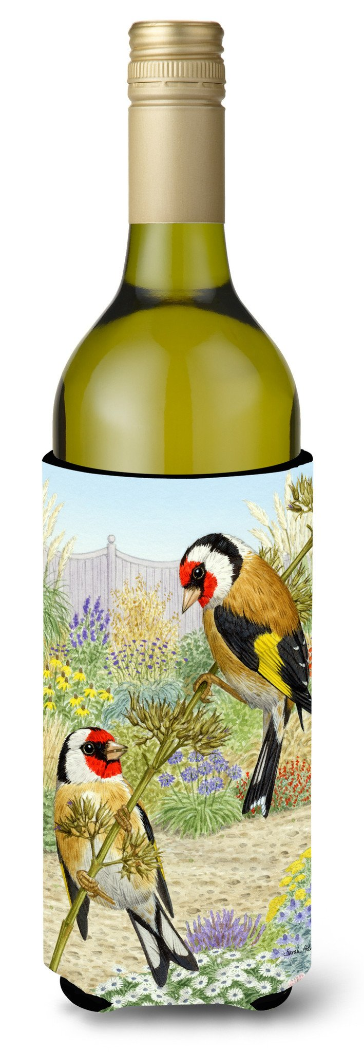 Buy this European Goldfinches Wine Bottle Beverage Insulator Hugger ASA2103LITERK