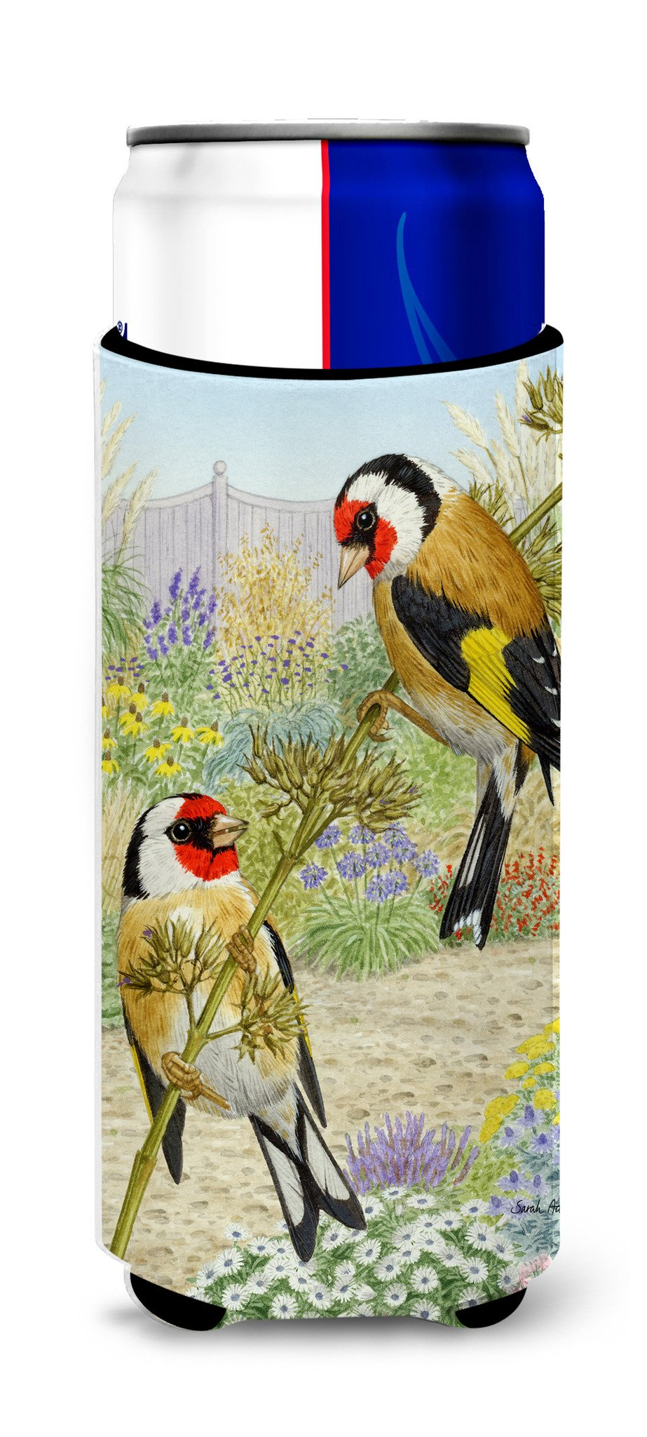 European Goldfinches Ultra Beverage Insulators for slim cans ASA2103MUK by Caroline's Treasures