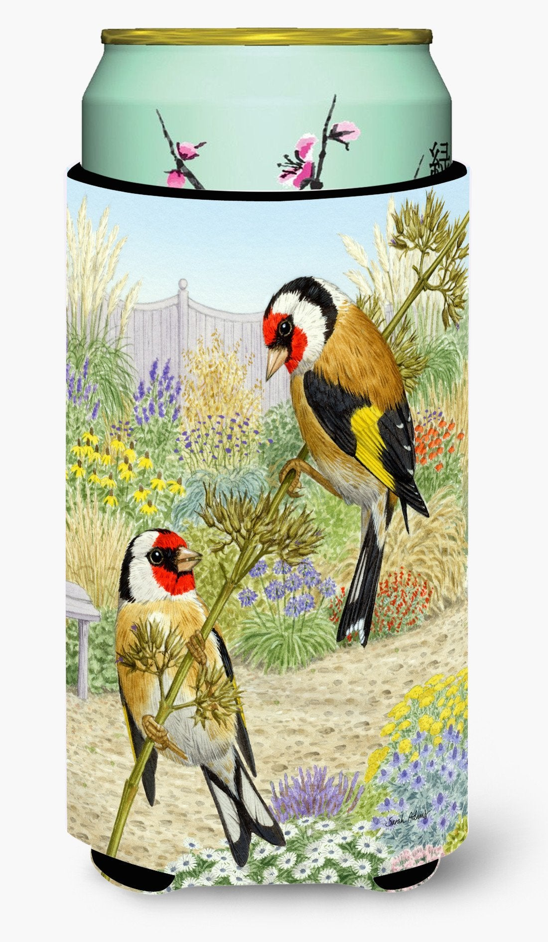 European Goldfinches Tall Boy Beverage Insulator Hugger ASA2103TBC by Caroline's Treasures