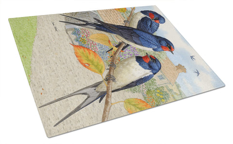 Buy this Barn Swallows Glass Cutting Board Large ASA2106LCB