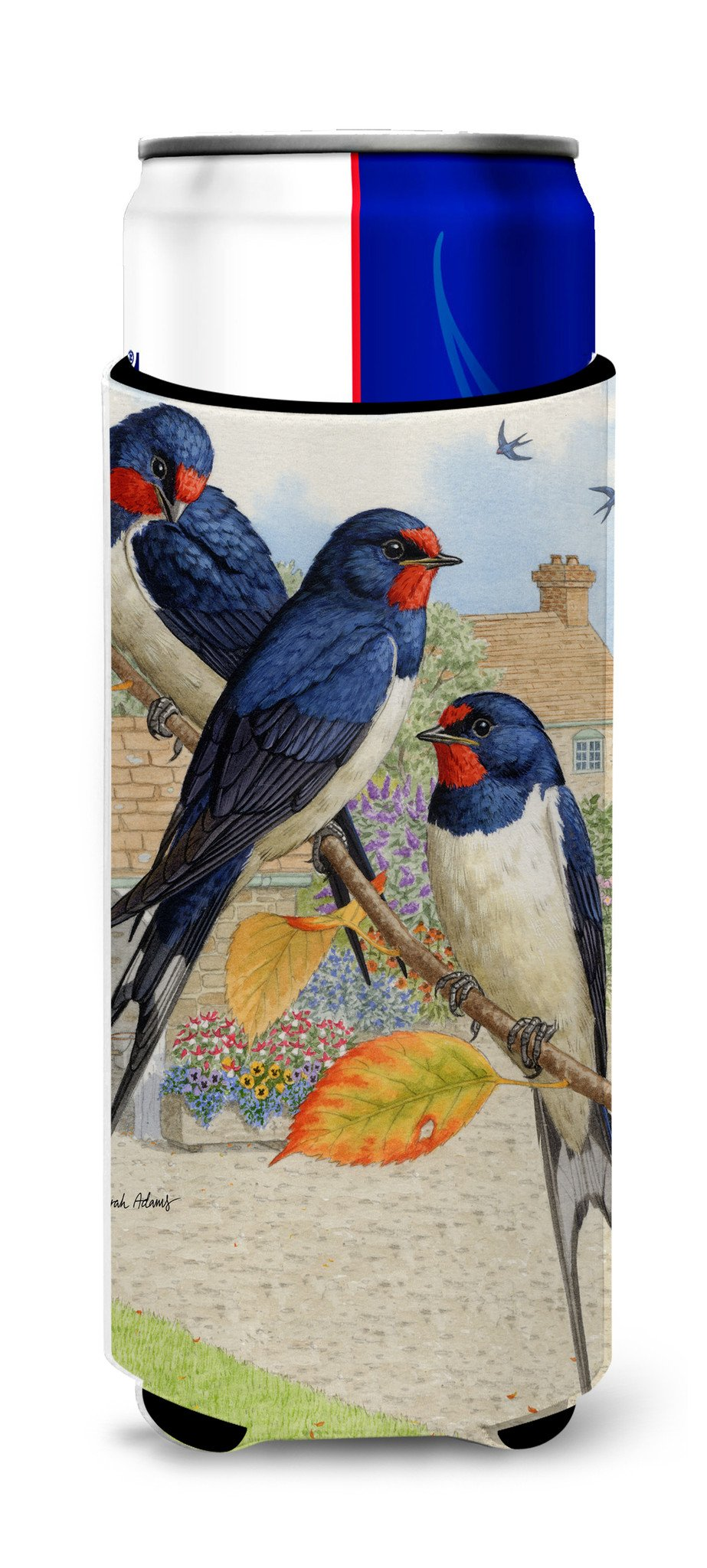 Barn Swallows Ultra Beverage Insulators for slim cans ASA2106MUK by Caroline's Treasures