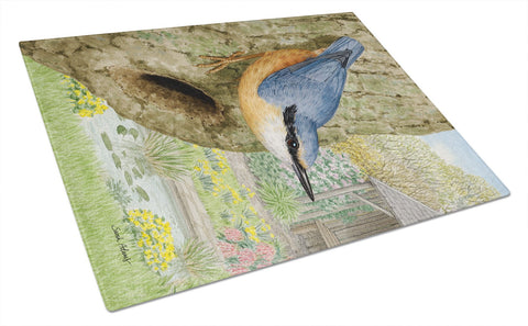 Buy this Red-breasted Nuthatch Glass Cutting Board Large ASA2108LCB