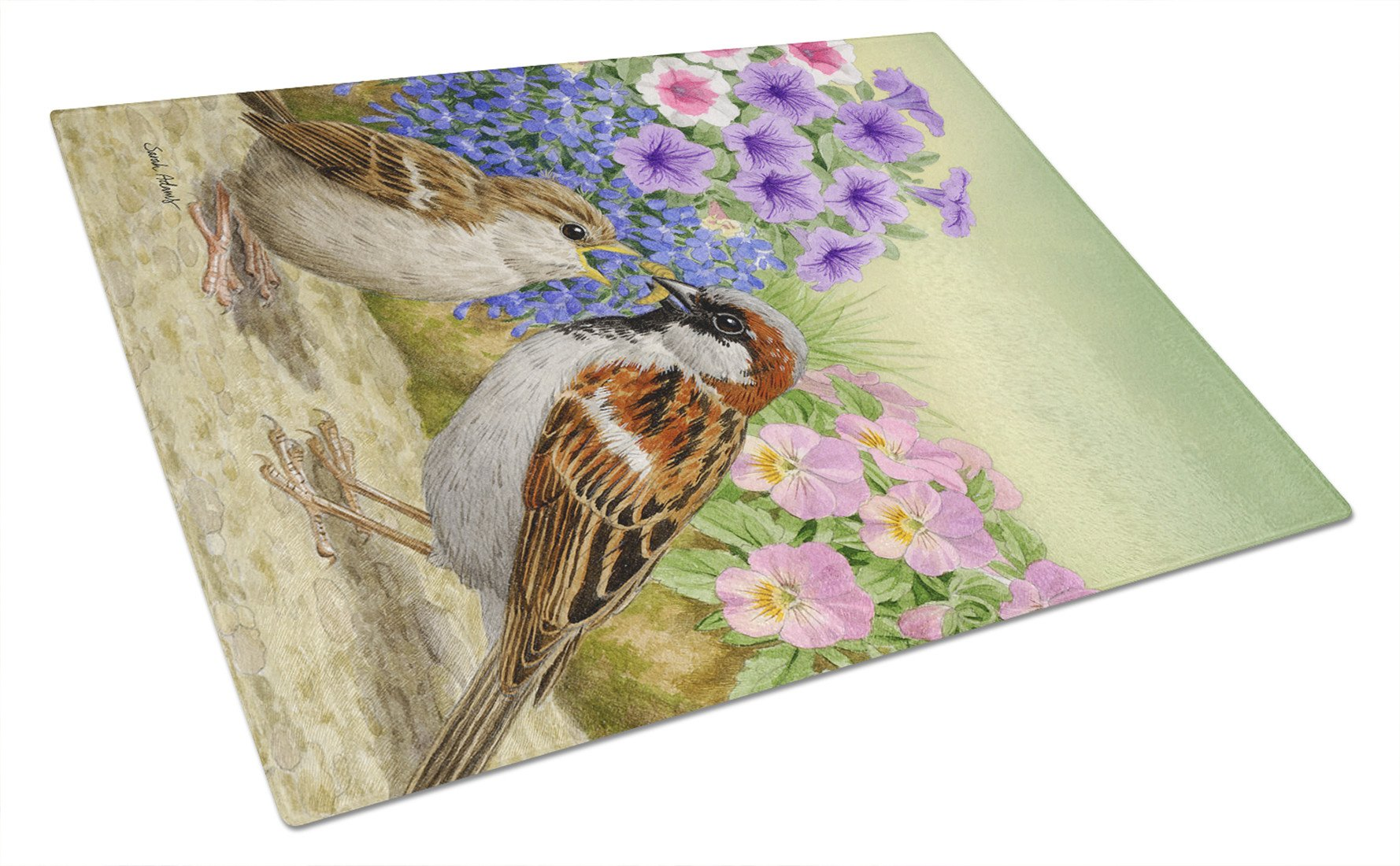 Buy this House Sparrows Glass Cutting Board Large ASA2112LCB