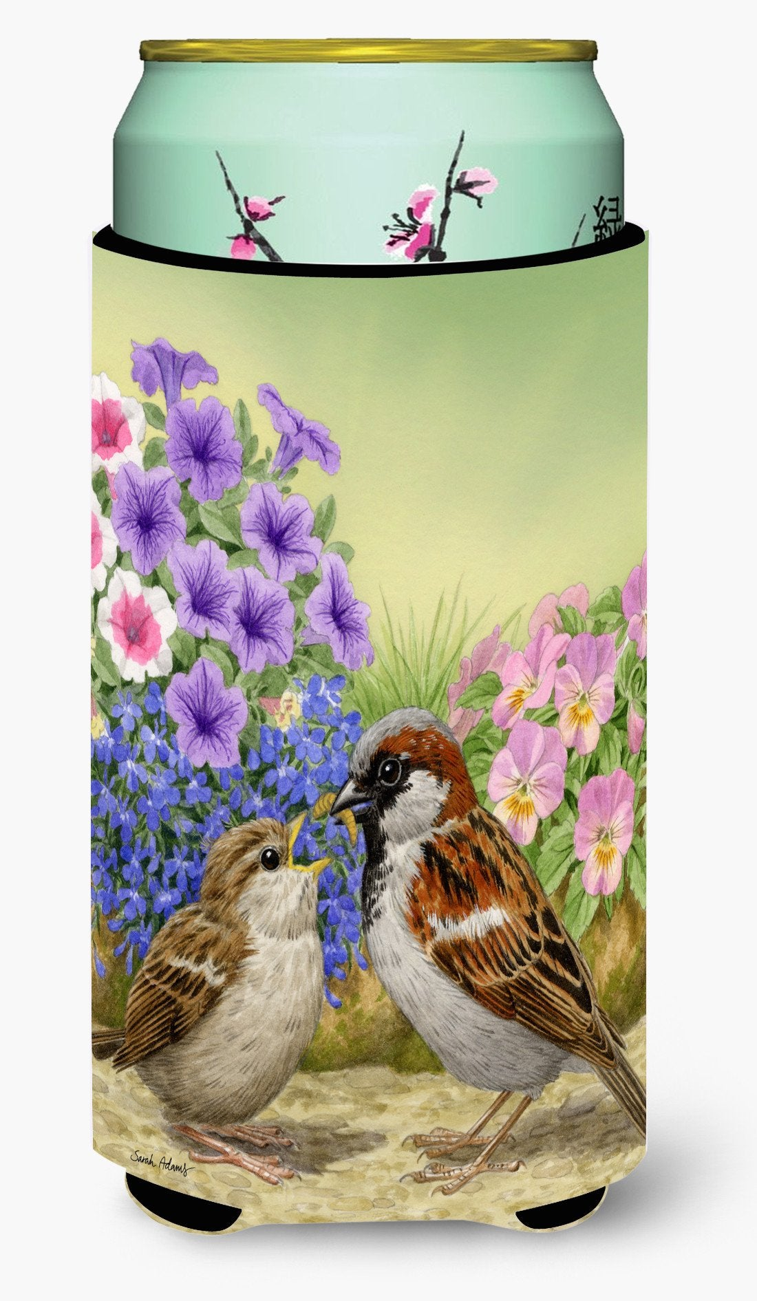 House Sparrows Tall Boy Beverage Insulator Hugger ASA2112TBC by Caroline's Treasures