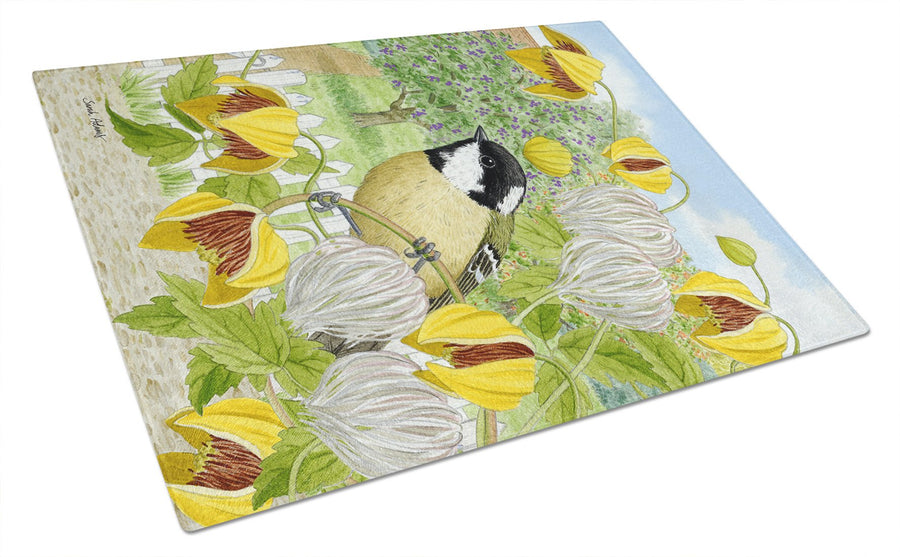 Coal Tit Glass Cutting Board Large ASA2114LCB - the-store.com