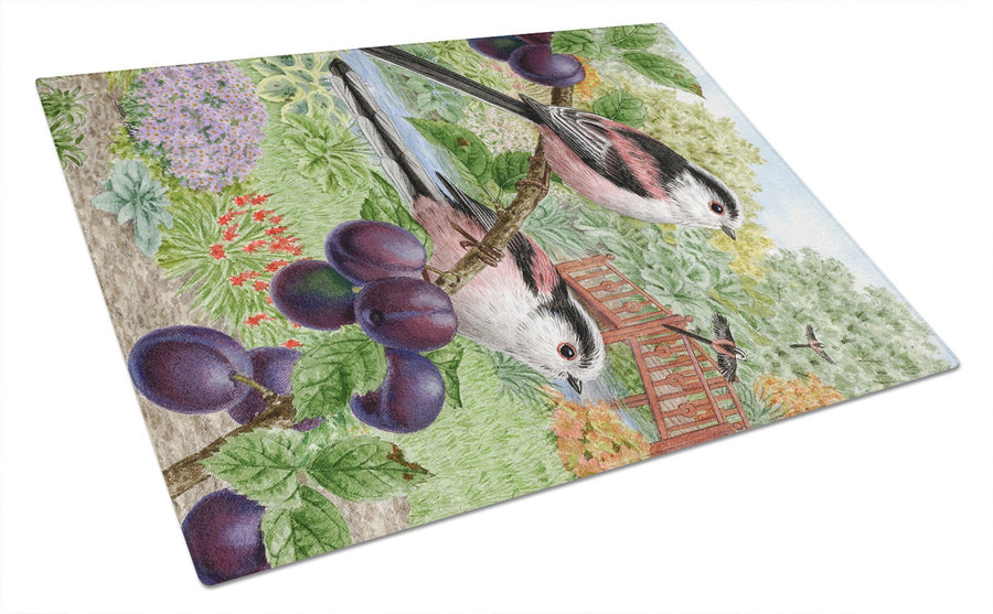 Buy this Long Tailed Tits Glass Cutting Board Large ASA2115LCB
