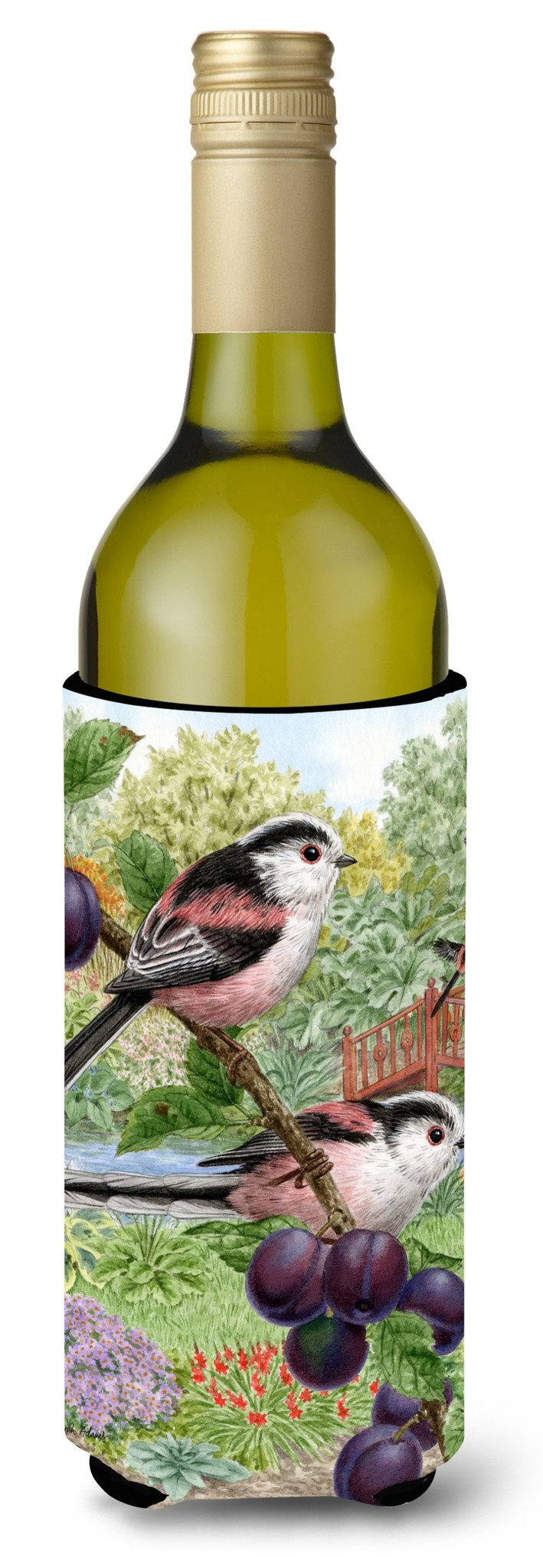 Buy this Long Tailed Tits Wine Bottle Beverage Insulator Hugger ASA2115LITERK