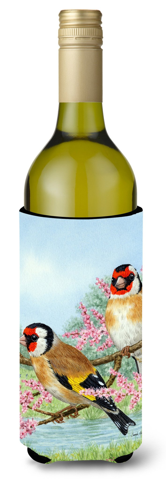 Buy this European Goldfinches Wine Bottle Beverage Insulator Hugger ASA2119LITERK