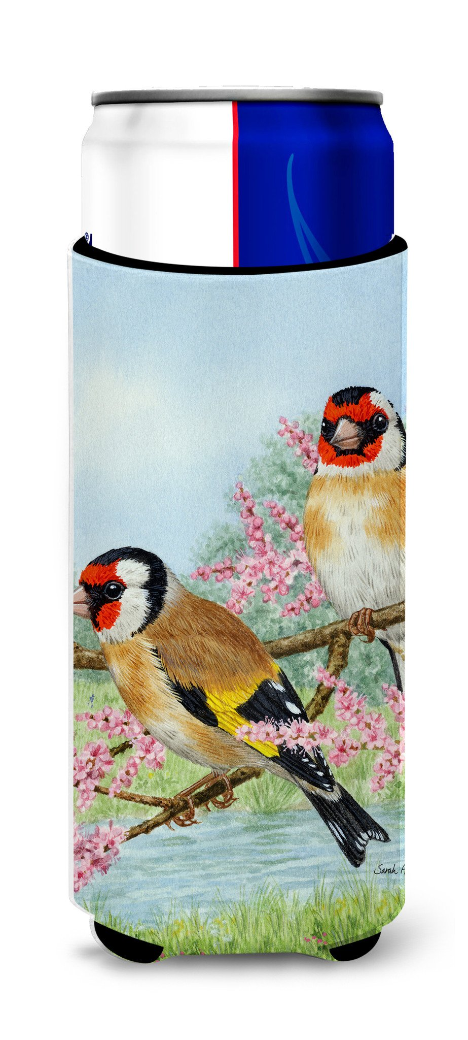 European Goldfinches Ultra Beverage Insulators for slim cans ASA2119MUK by Caroline's Treasures