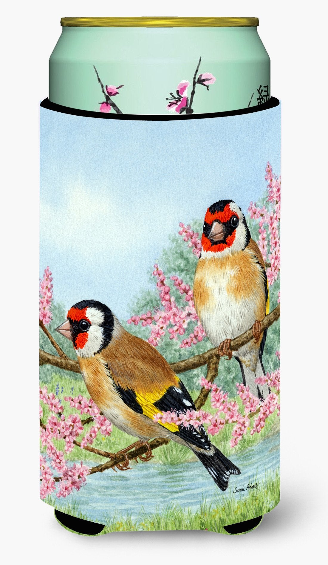 European Goldfinches Tall Boy Beverage Insulator Hugger ASA2119TBC by Caroline's Treasures