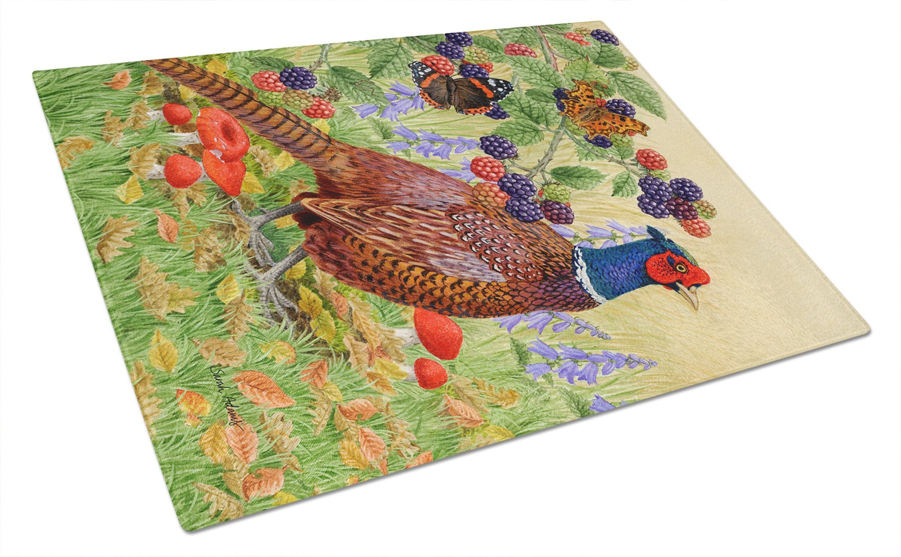 Pheasant Glass Cutting Board Large ASA2121LCB by Caroline's Treasures