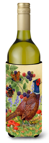 Buy this Pheasant Wine Bottle Beverage Insulator Hugger ASA2121LITERK