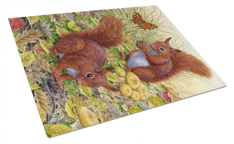Buy this Red Squirrels Glass Cutting Board Large ASA2133LCB