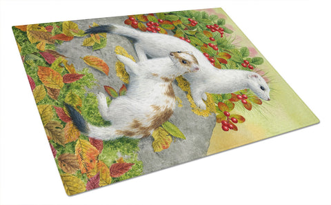 Buy this Ermine Stoat Short-tailed Weasel Glass Cutting Board Large ASA2138LCB