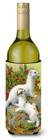 Buy this Ermine Stoat Short-tailed Weasel Wine Bottle Beverage Insulator Hugger ASA2138LITERK