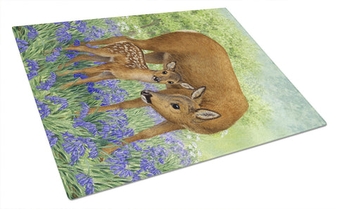 Buy this Deer & Fawn Glass Cutting Board Large ASA2151LCB