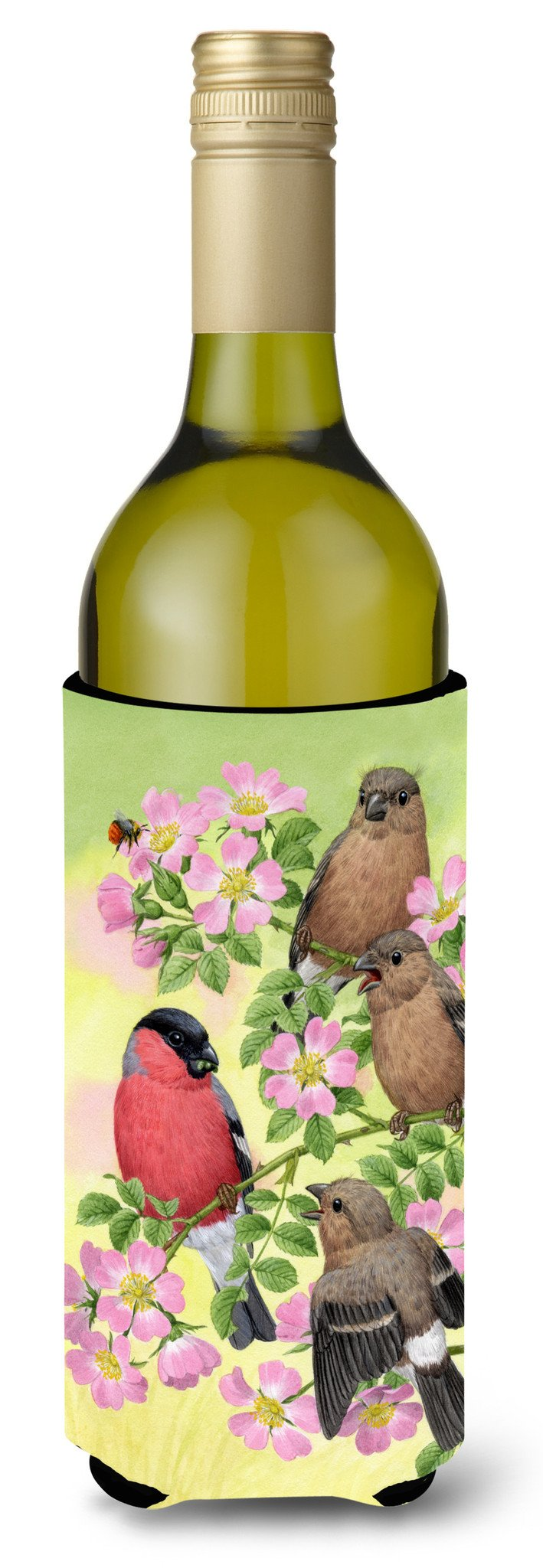 Buy this Eurasian Bullfinches Wine Bottle Beverage Insulator Hugger ASA2154LITERK