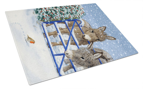 Buy this Donkeys and Robin Glass Cutting Board Large ASA2159LCB