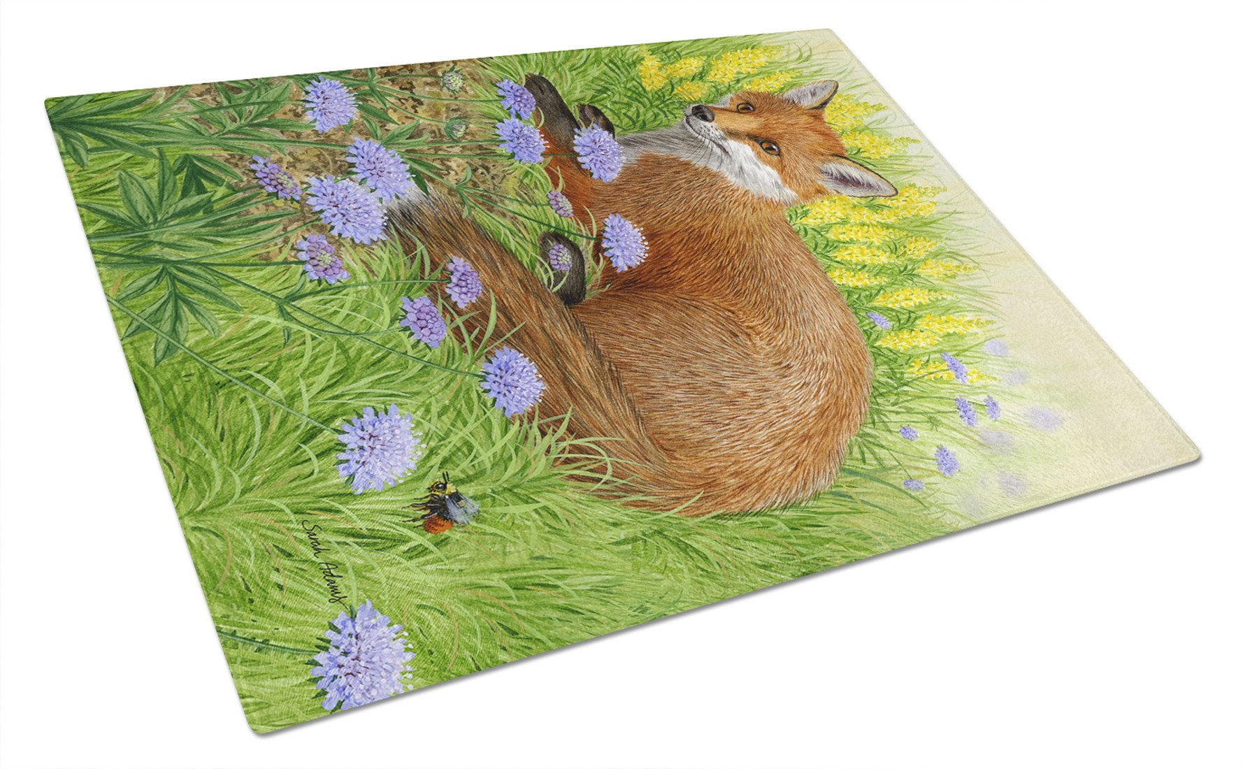 Buy this Springtime Fox Glass Cutting Board Large ASA2160LCB