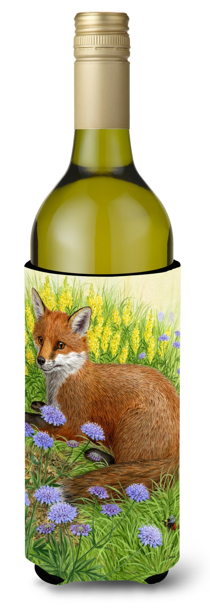 Buy this Springtime Fox Wine Bottle Beverage Insulator Hugger ASA2160LITERK