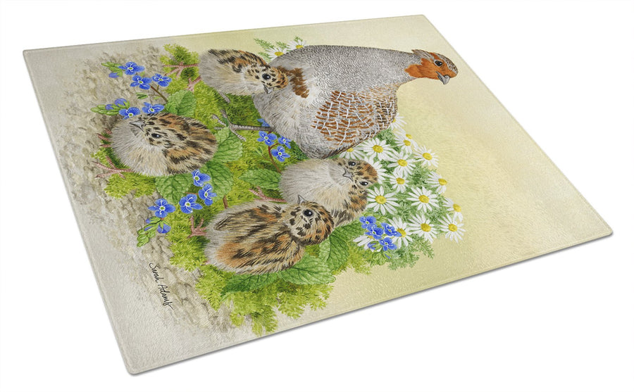 Buy this Partridge and Chicks Glass Cutting Board Large ASA2162LCB