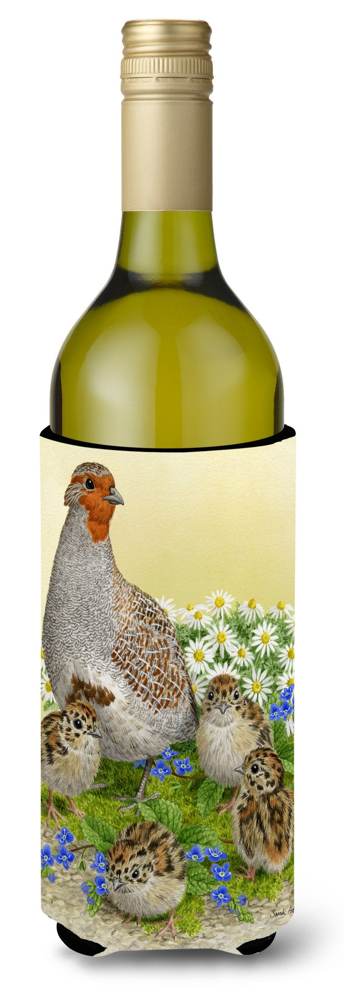 Buy this Partridge and Chicks Wine Bottle Beverage Insulator Hugger ASA2162LITERK